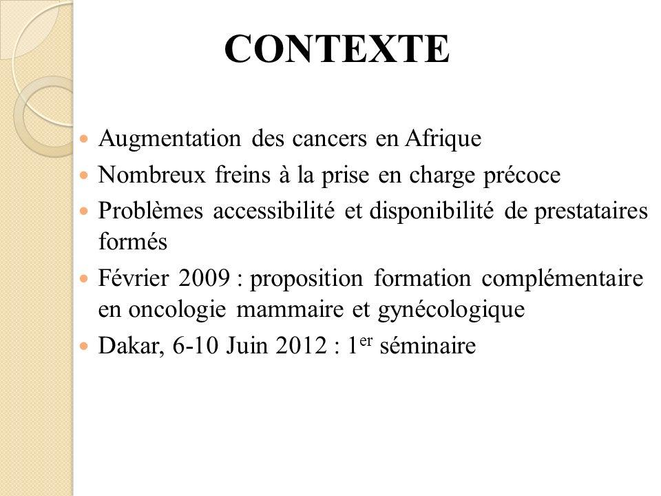 CONTEXTE Augmentation des cancers en Afrique