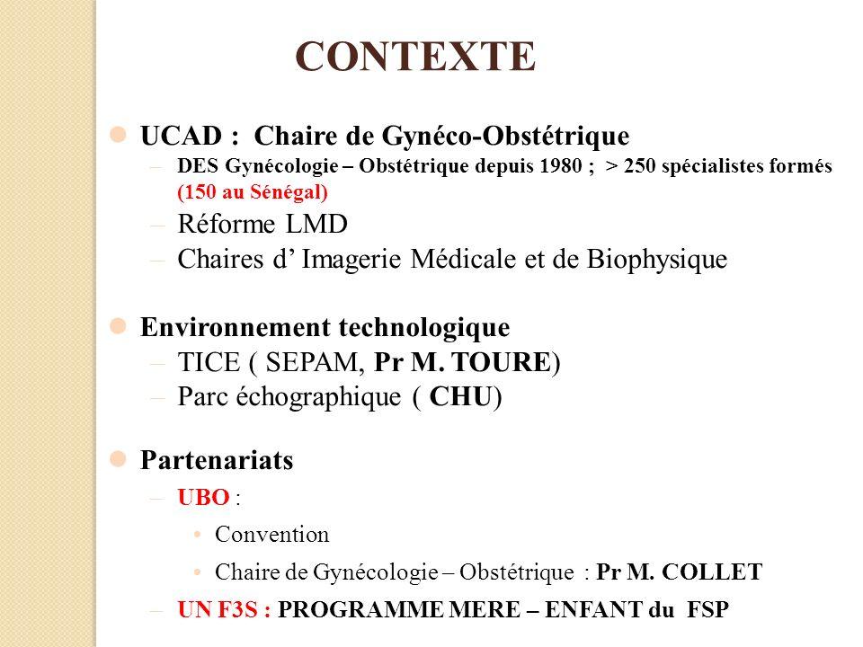 CONTEXTE UCAD : Chaire de Gynéco-Obstétrique Réforme LMD