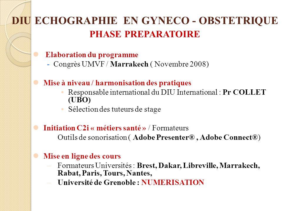 DIU ECHOGRAPHIE EN GYNECO - OBSTETRIQUE PHASE PREPARATOIRE