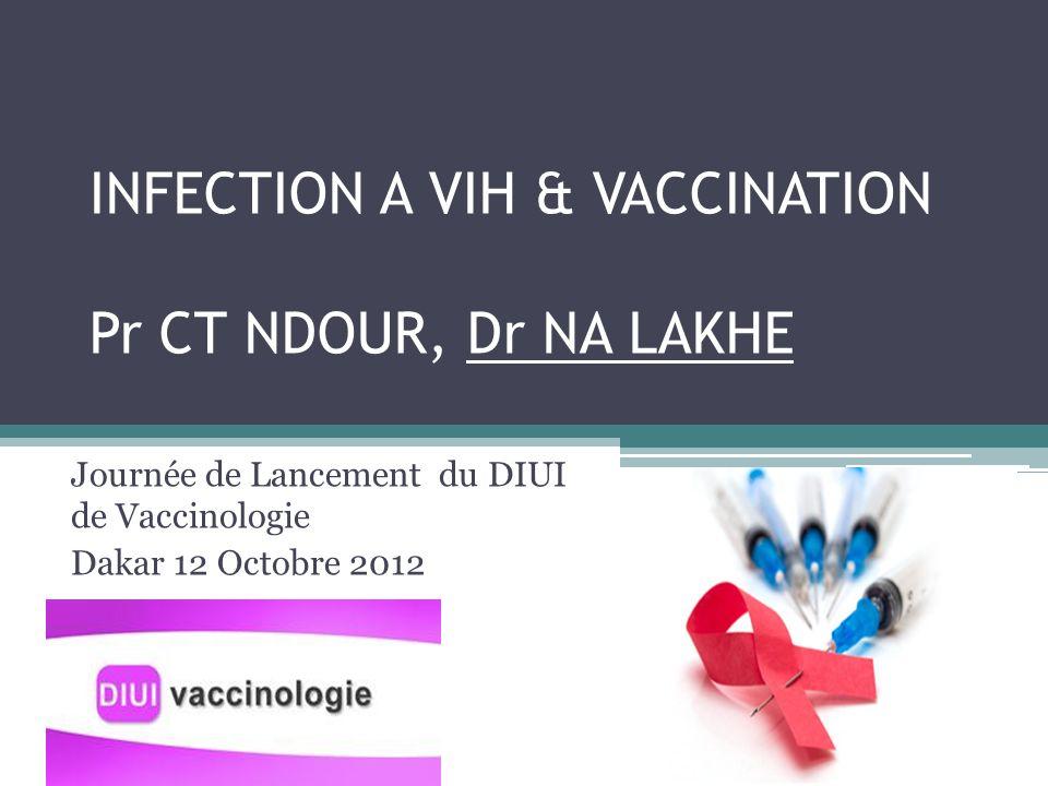 INFECTION A VIH & VACCINATION Pr CT NDOUR, Dr NA LAKHE
