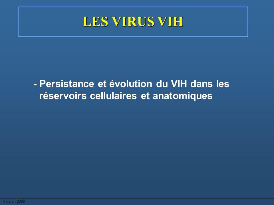 LES VIRUS VIH - Persistance et évolution du VIH dans les réservoirs cellulaires et anatomiques