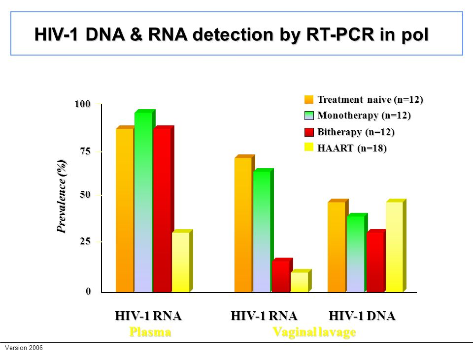 HIV-1 DNA & RNA detection by RT-PCR in pol