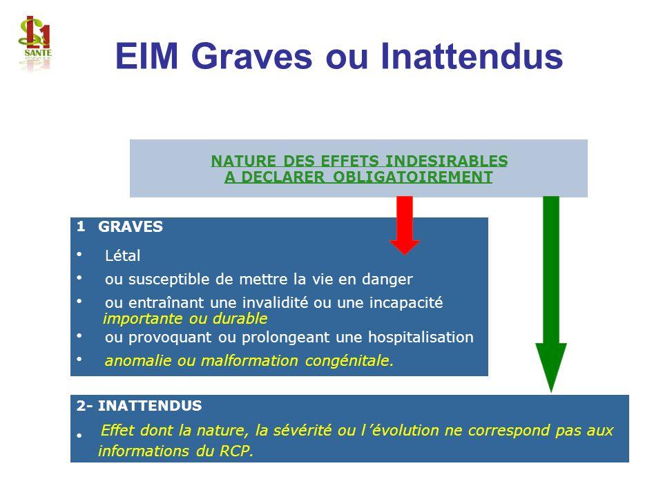 EIM Graves ou Inattendus