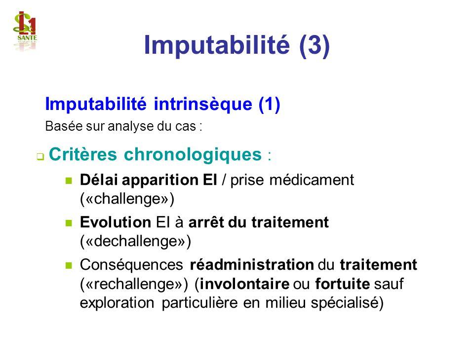 Imputabilité (3) Imputabilité intrinsèque (1)