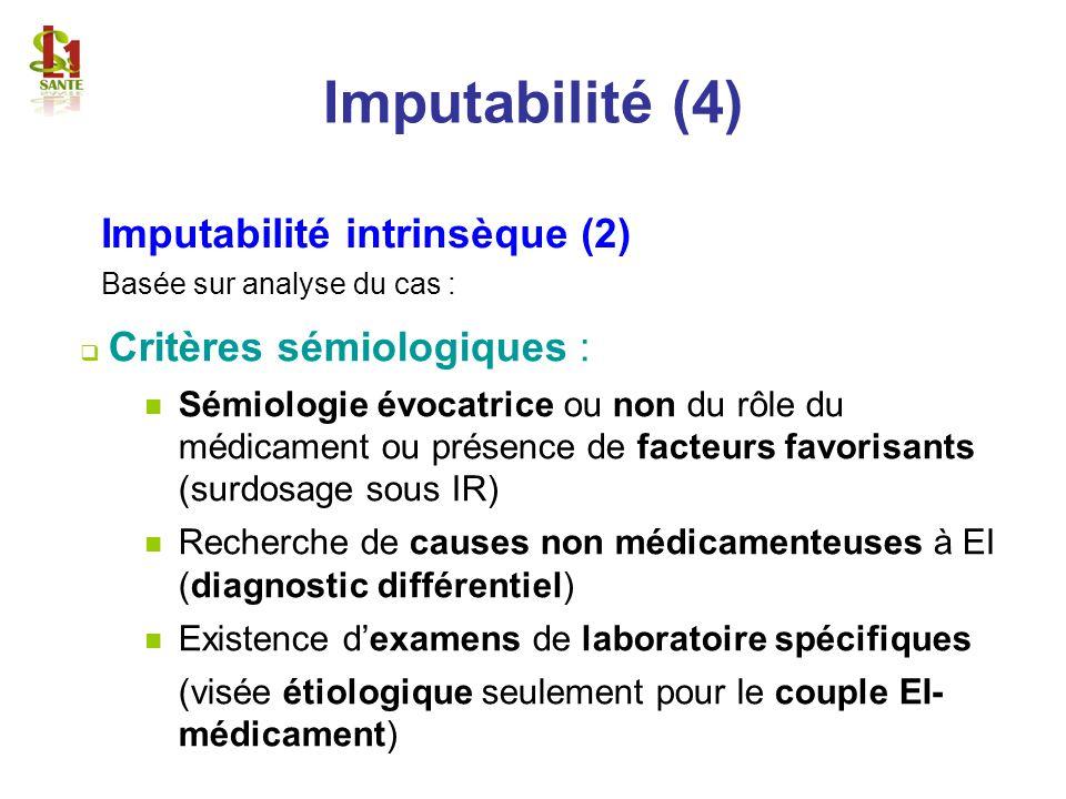 Imputabilité (4) Imputabilité intrinsèque (2)