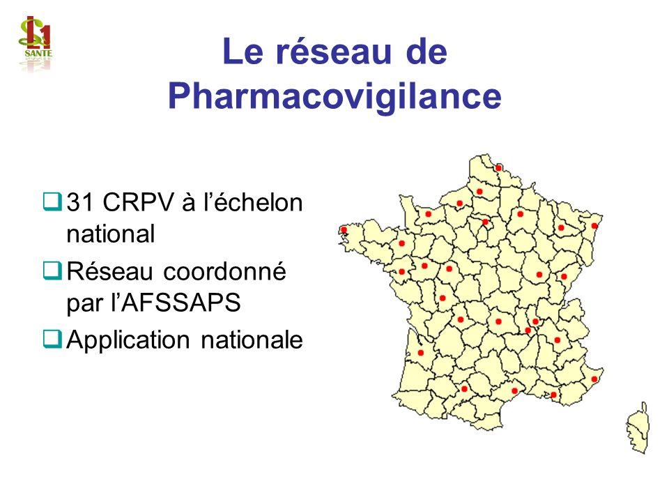 Le réseau de Pharmacovigilance