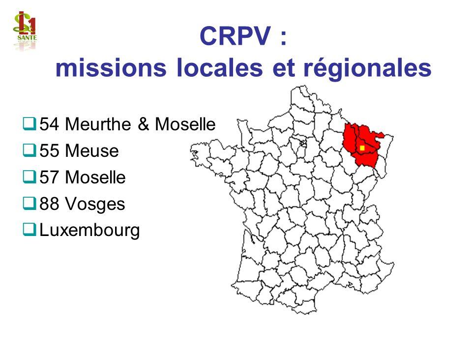 CRPV : missions locales et régionales