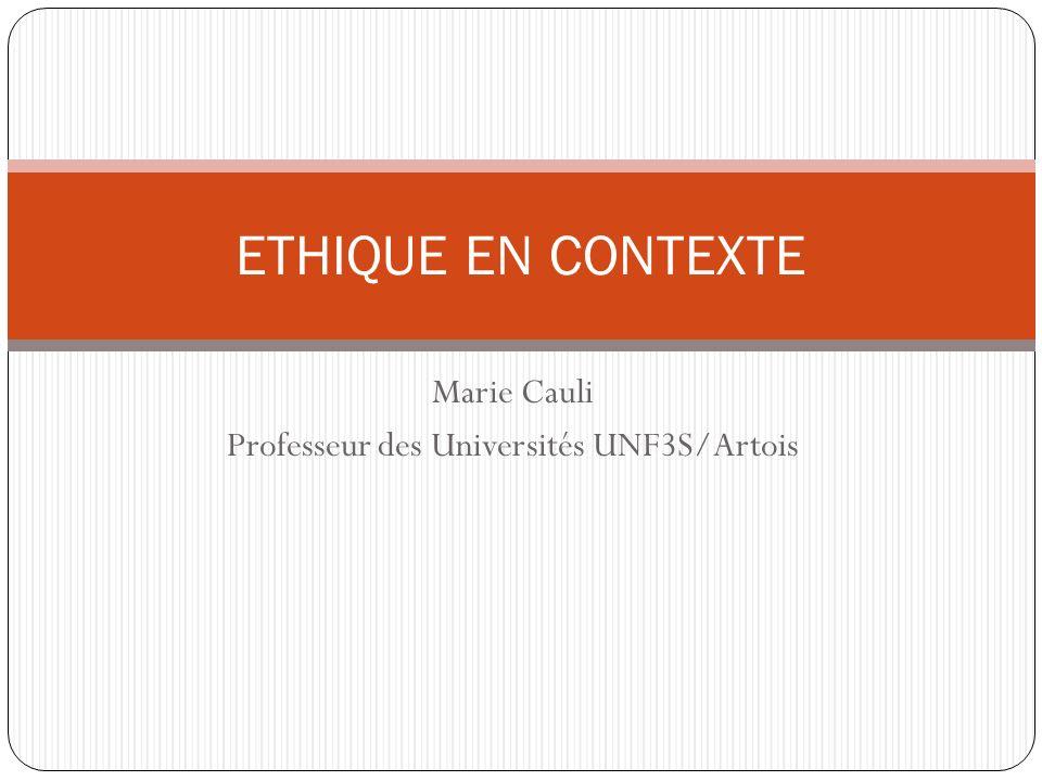 Marie Cauli Professeur des Universités UNF3S/Artois