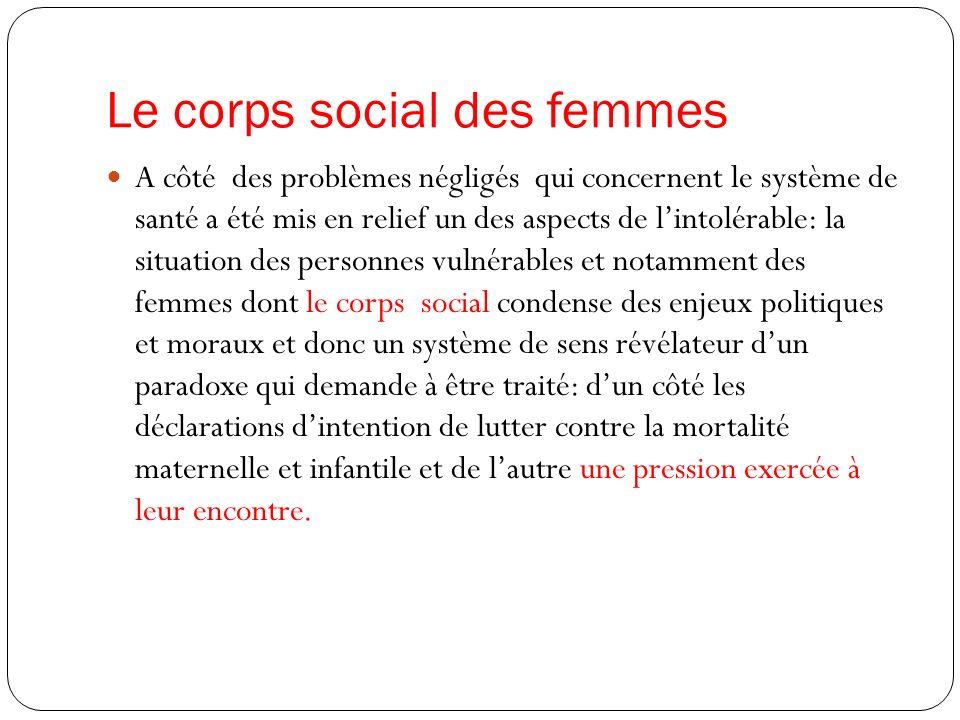Le corps social des femmes
