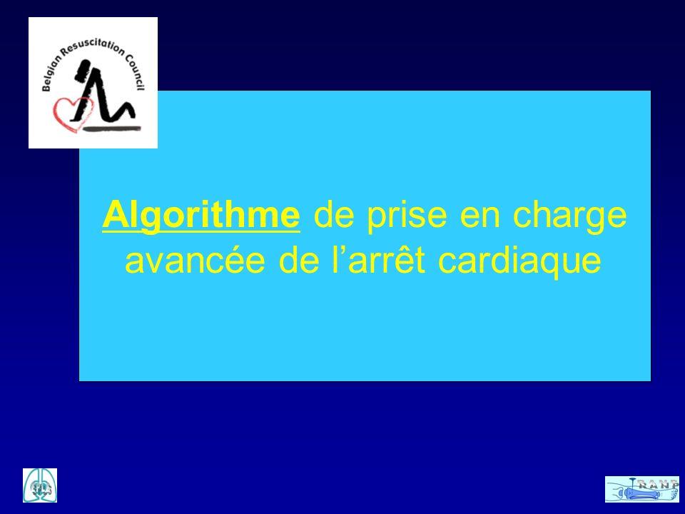 Algorithme de prise en charge avancée de l'arrêt cardiaque