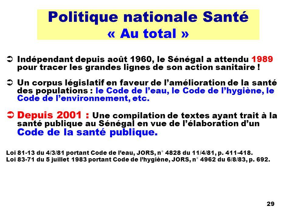 Politique nationale Santé « Au total »