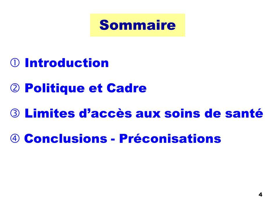 Sommaire  Introduction  Politique et Cadre