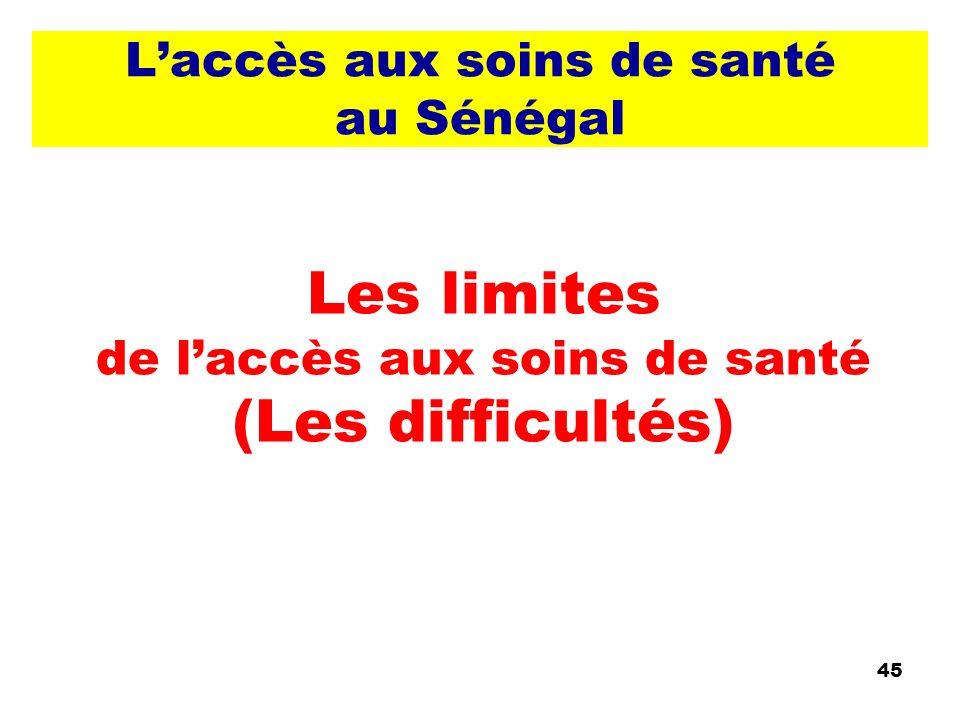 L'accès aux soins de santé au Sénégal