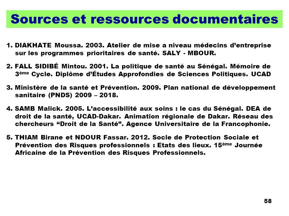 Sources et ressources documentaires