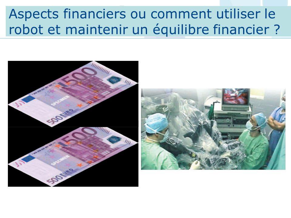 Aspects financiers ou comment utiliser le robot et maintenir un équilibre financier