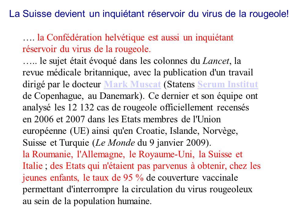 La Suisse devient un inquiétant réservoir du virus de la rougeole!