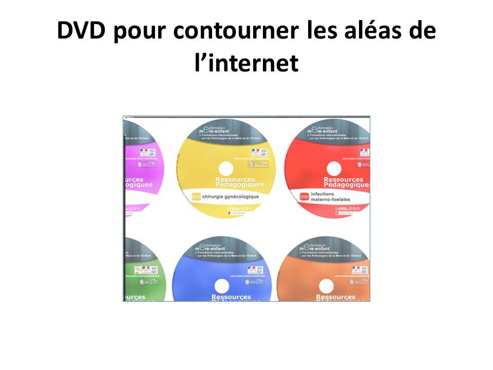 DVD pour contourner les aléas de l'internet