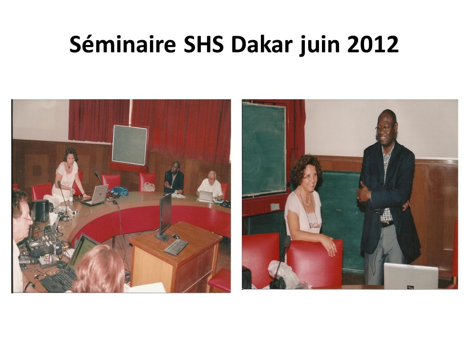 Séminaire SHS Dakar juin 2012