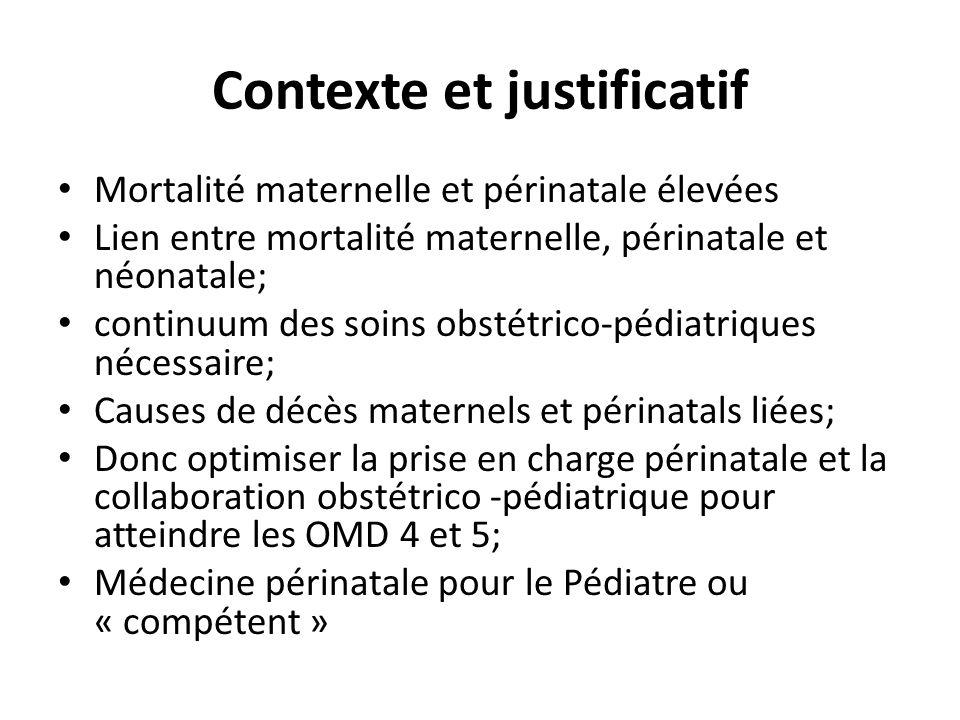 Contexte et justificatif