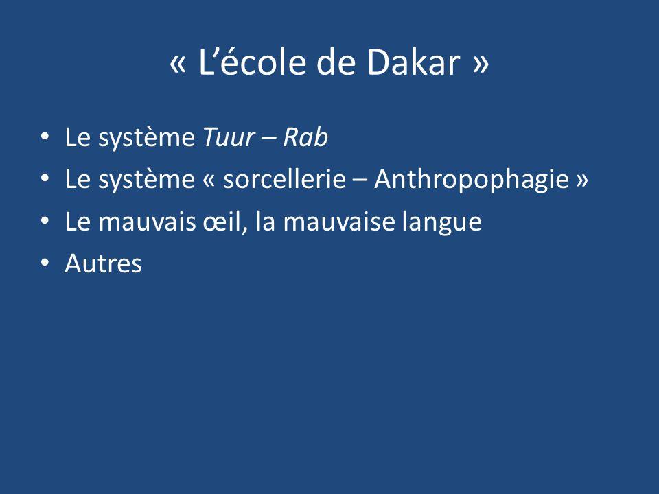 « L'école de Dakar » Le système Tuur – Rab