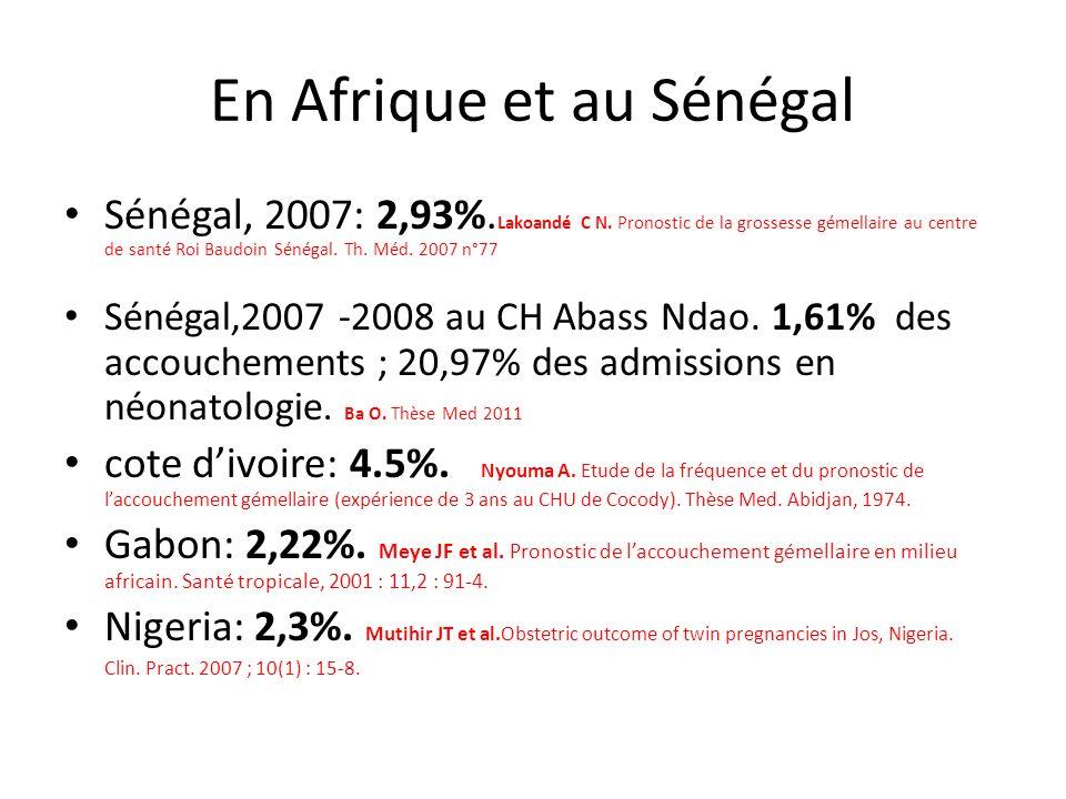 En Afrique et au Sénégal