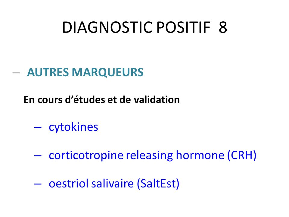 DIAGNOSTIC POSITIF 8 AUTRES MARQUEURS cytokines