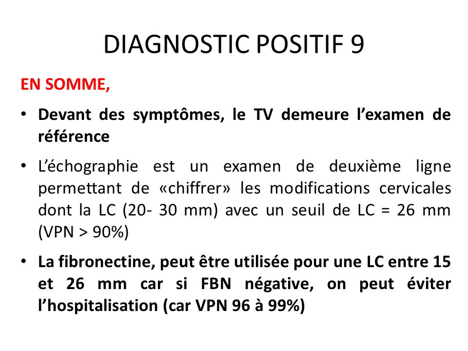 DIAGNOSTIC POSITIF 9 EN SOMME,