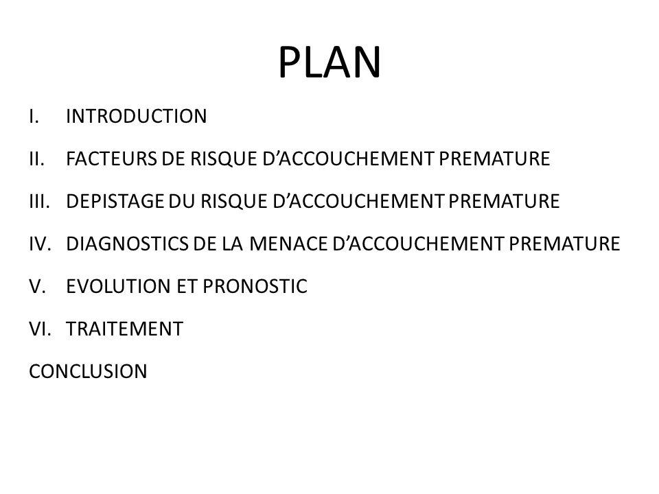 PLAN INTRODUCTION FACTEURS DE RISQUE D'ACCOUCHEMENT PREMATURE