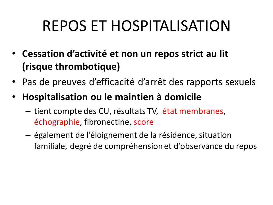 REPOS ET HOSPITALISATION