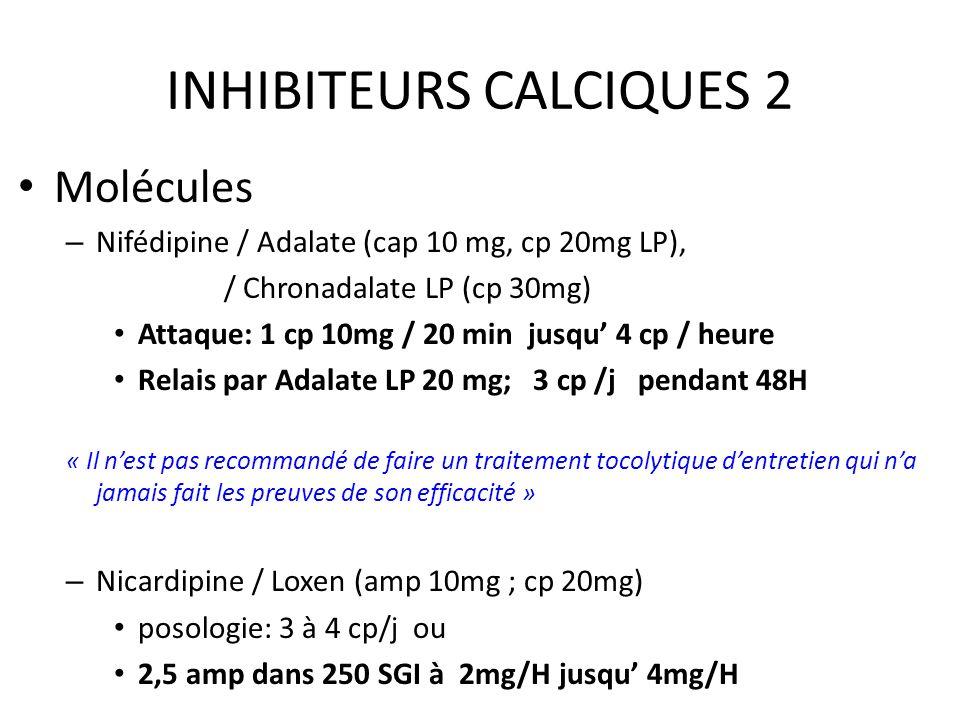 INHIBITEURS CALCIQUES 2