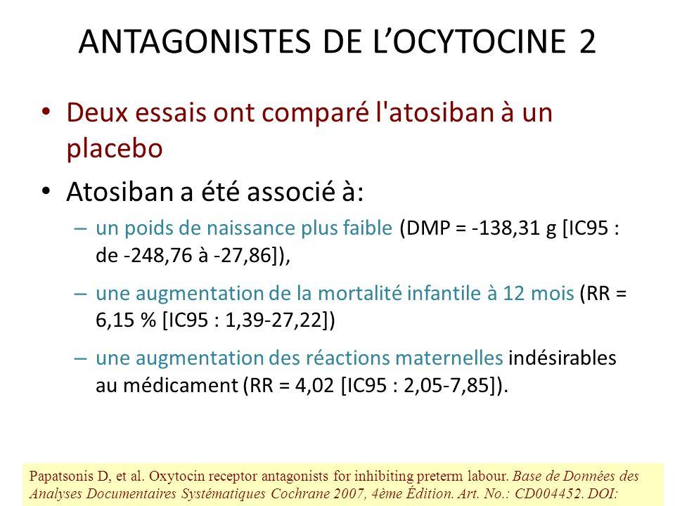 ANTAGONISTES DE L'OCYTOCINE 2