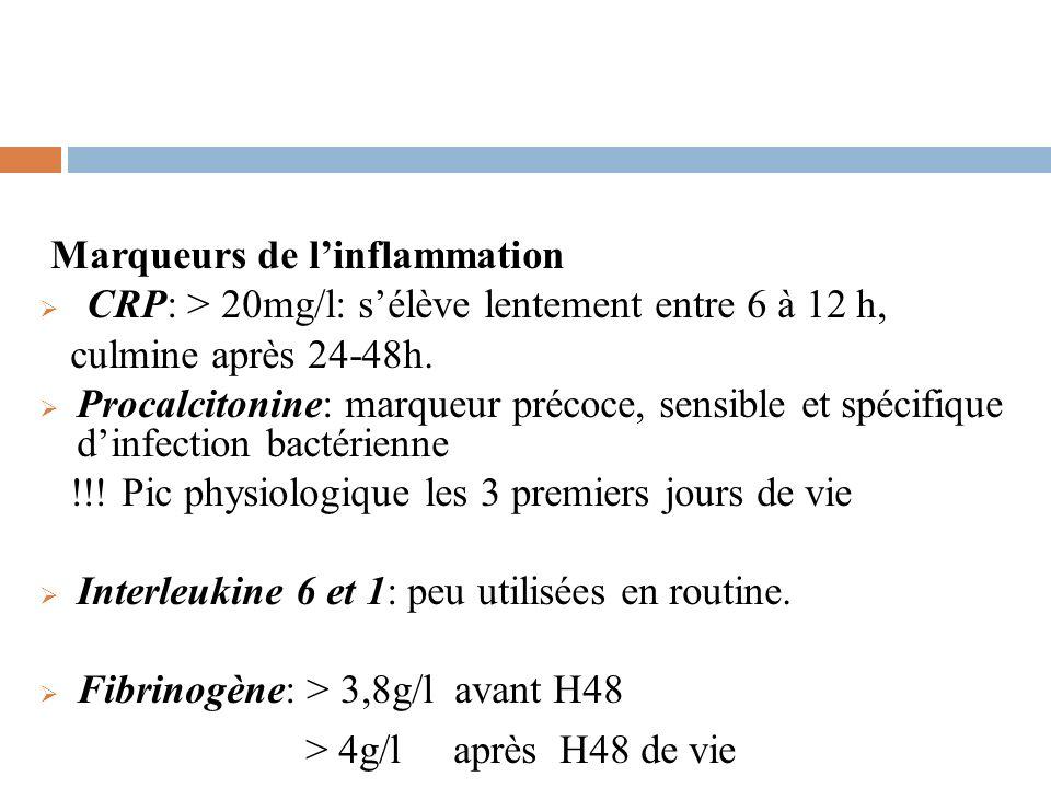 Marqueurs de l'inflammation