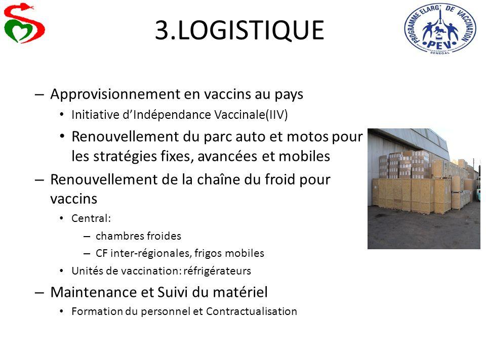 3.LOGISTIQUE Approvisionnement en vaccins au pays
