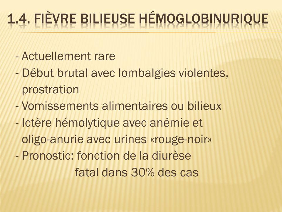 1.4. Fièvre bilieuse hémoglobinurique