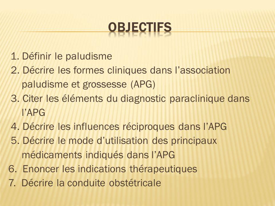 OBJECTIFS 2. Décrire les formes cliniques dans l'association