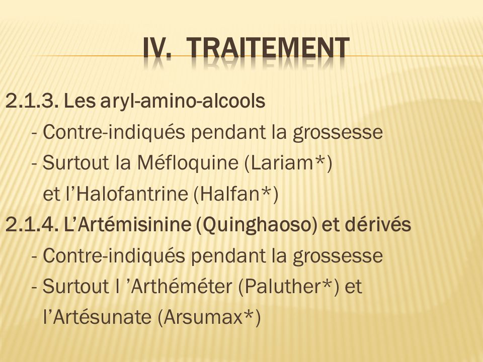 IV. TRAITEMENT