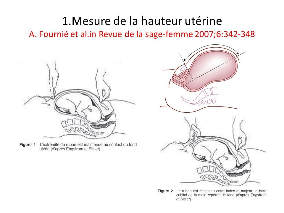 1. Mesure de la hauteur utérine A. Fournié et al