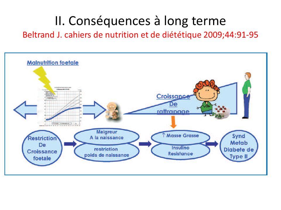 II. Conséquences à long terme Beltrand J