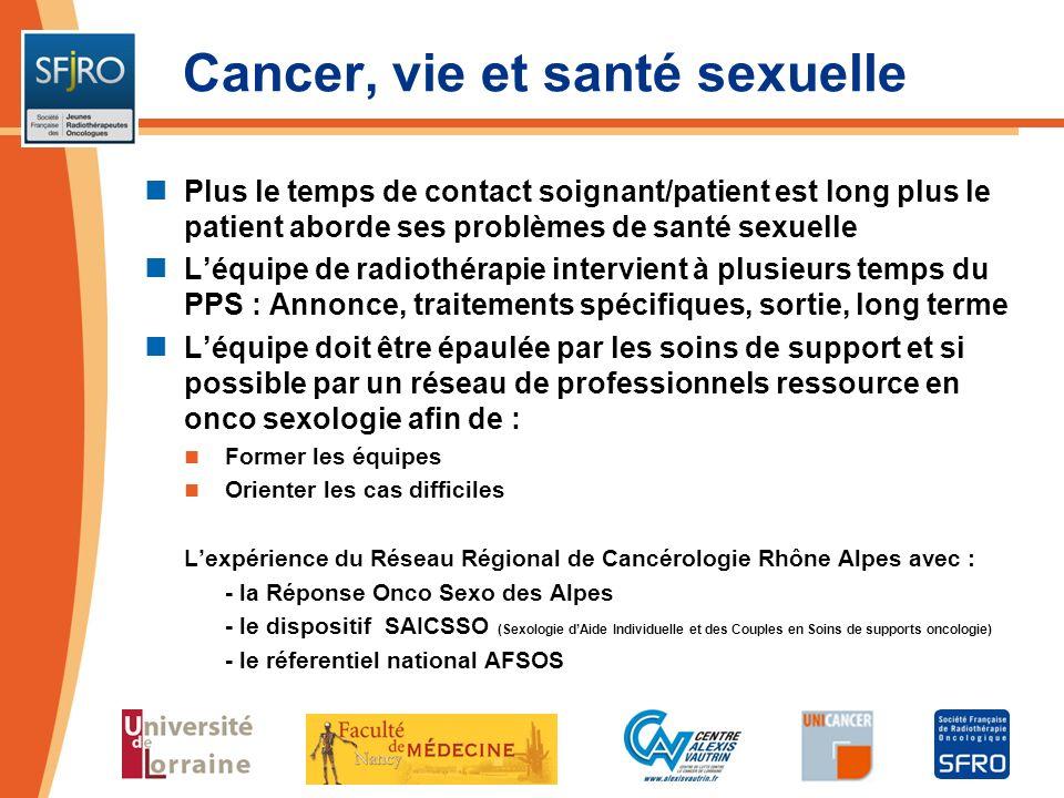 Cancer, vie et santé sexuelle
