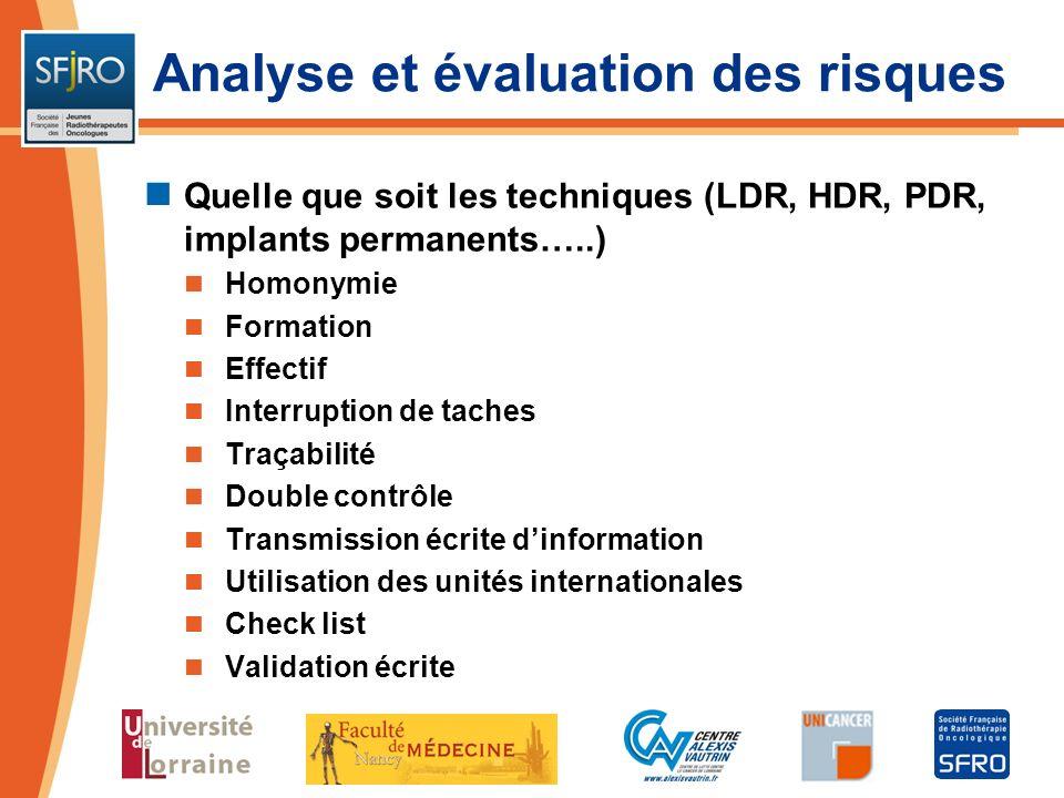 Analyse et évaluation des risques