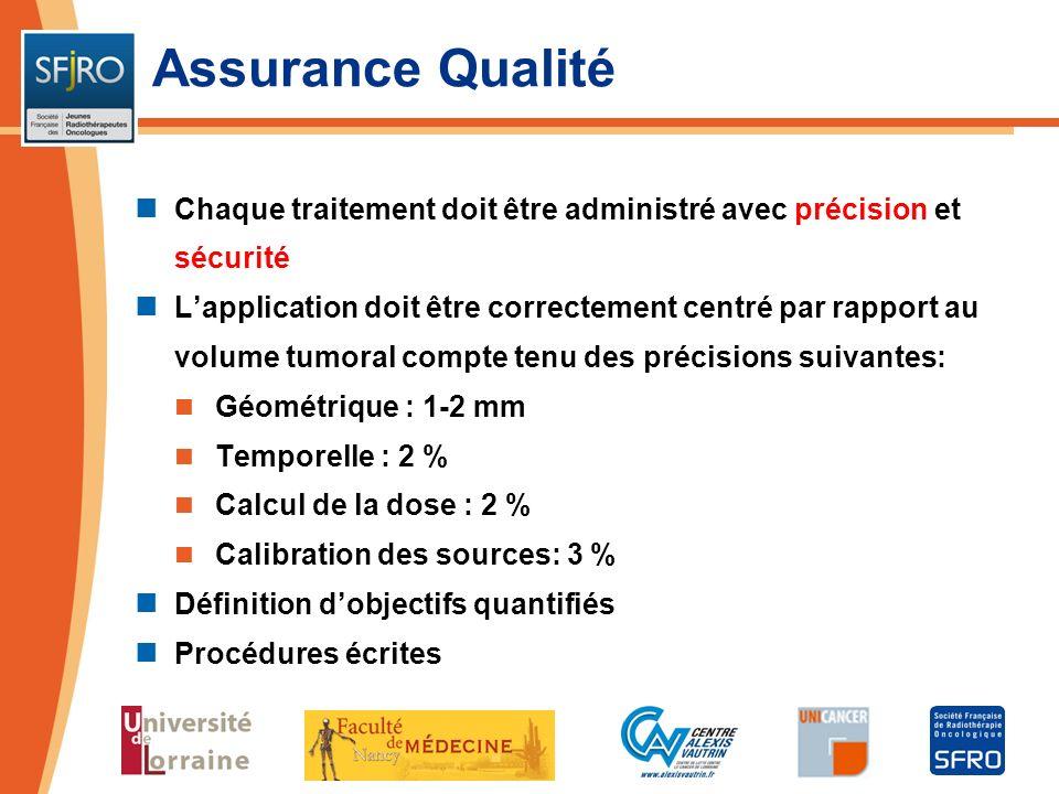 Assurance Qualité Chaque traitement doit être administré avec précision et sécurité.