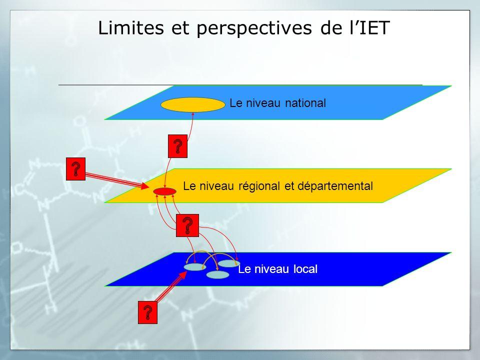 Limites et perspectives de l'IET