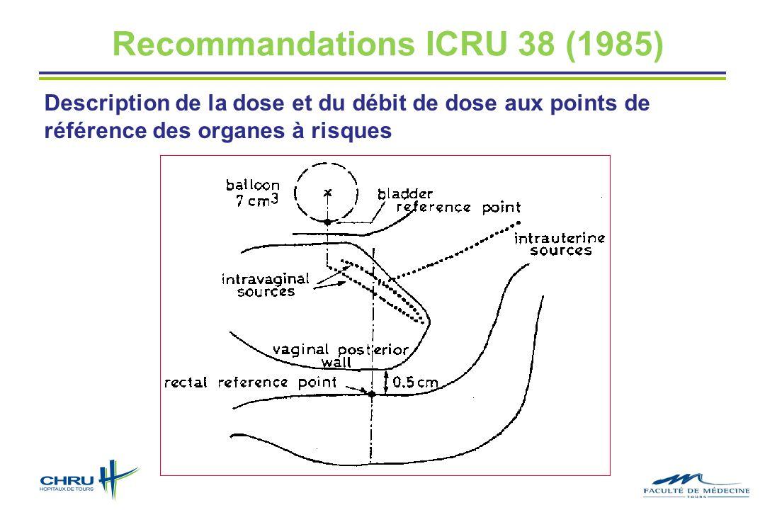 Recommandations ICRU 38 (1985)