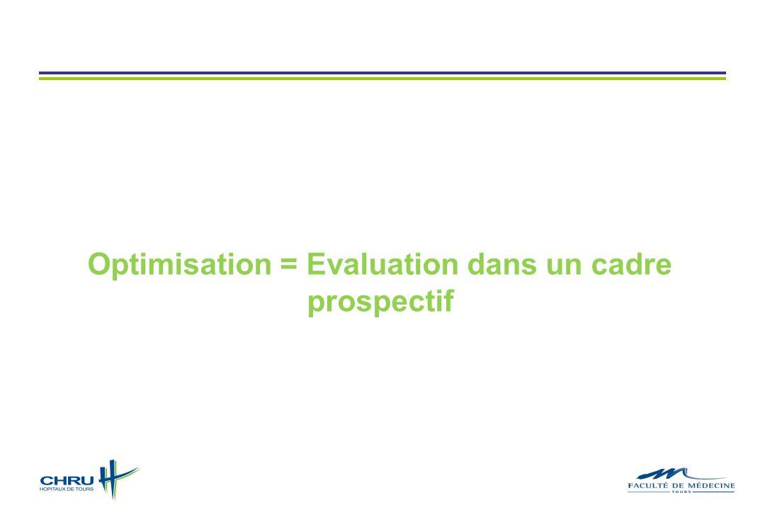 Optimisation = Evaluation dans un cadre prospectif