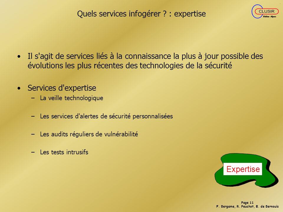 Quels services infogérer : expertise