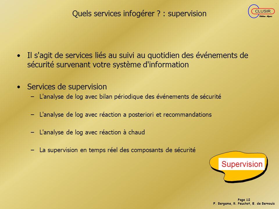 Quels services infogérer : supervision