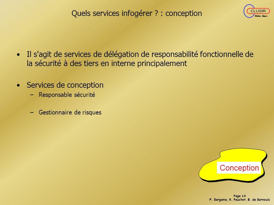 Quels services infogérer : conception