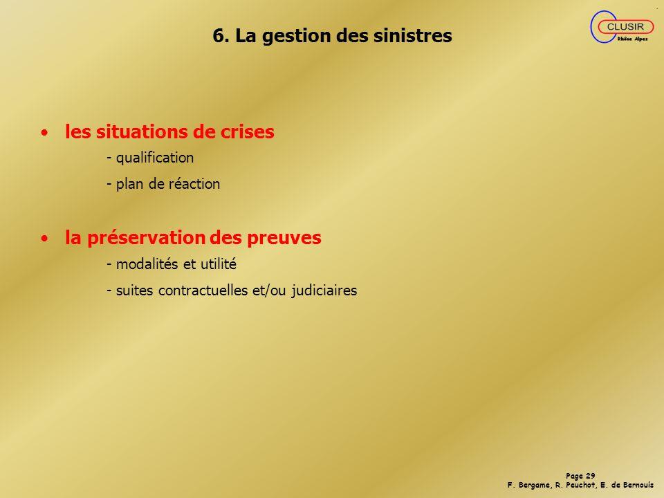 6. La gestion des sinistres