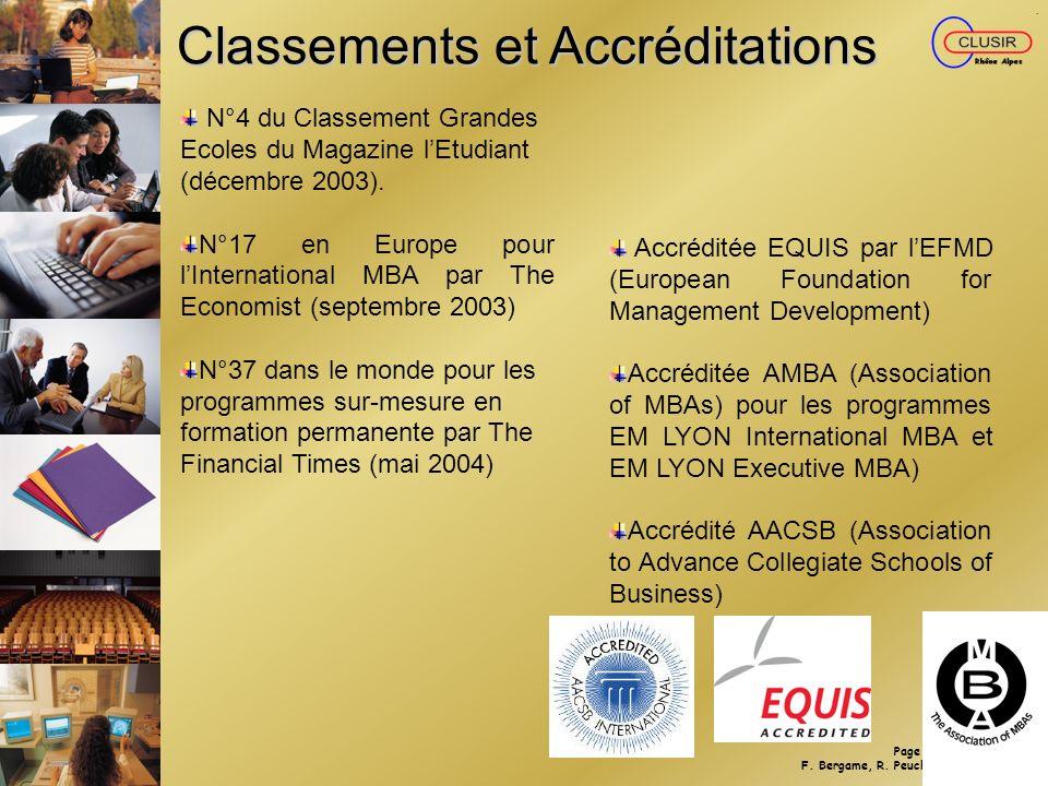 Classements et Accréditations