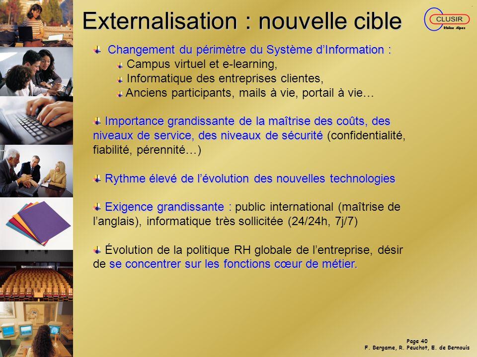 Externalisation : nouvelle cible